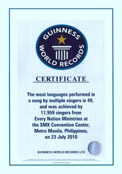 Guinness Certificate